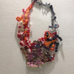 """""""Holocaust"""" neck piece, Joyce J. Scott (2013)"""