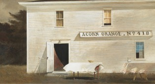 Stoop Day, Andrew Wyeth. 1975