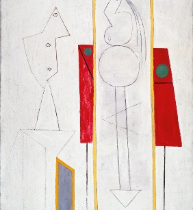 Pablo Picasso, L'Atelier (The Studio), 1928, oil and crayon on canvas