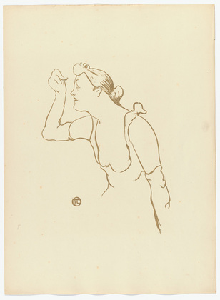 Paula Brébion from Le Café Concert (lithograph) 1893