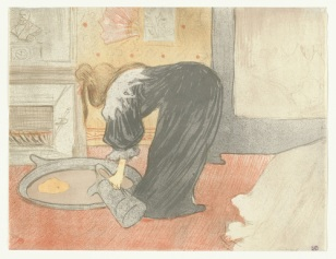Woman at the Tub (lithograph) 1896