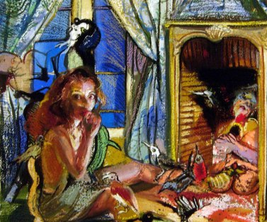 Natalie Frank, Cinderella II, 2011-4, Gouache and chalk pastel on paper