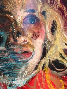 """Natalie Frank, """"All Fur III (detail)"""" 2011-14, Gouache and chalk pastel on Arches paper"""