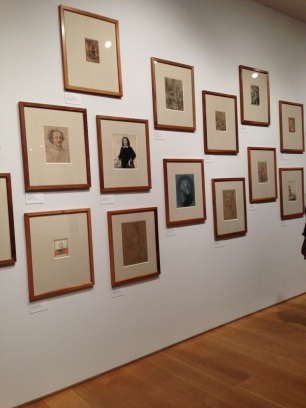 The Drawing Center, gallery view, Portraits from the École des Beaux-Arts Paris