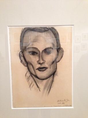 "Henri Matisse, ""Portrait of Franz Villier"" charcoal on paper"