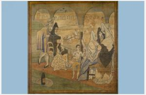 """Pablo Picasso, Stage Curtain for the Ballet """"Le Tricorne,"""" 1919"""