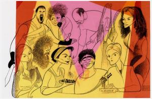 Al Hirschfeld, 2000 Academy Award Nominees for Best Actor and Best Actress, 2001.Colored gels over pen and ink.