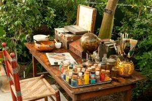 Reimaging Kahlo's studio overlooking her garden , NY Botanical Gardens