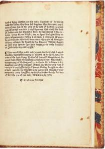 Sir Thomas Malory (fl. 1470) Thys noble and joyous book entitled le morte Darthur… Westminster: William Caxton, 31 July 1485