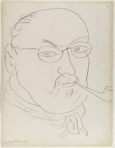 Henri Matisse, Self-Portrait 1945 Conté crayon on wove paper.
