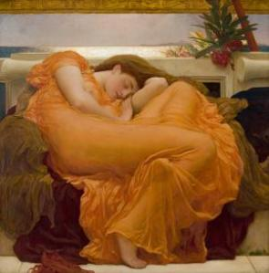Frederic Leighton (1830–1896), Flaming June, ca. 1895. Oil on canvas