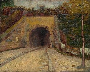 Vincent Van Gogh, Roadway with Underpass, oil on cardboard, 1887 (at the Guggenheim)