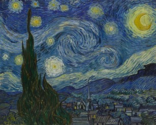 Vincent Van Gogh, The Starry Night, oil on canvas, 1889 (at MoMA)