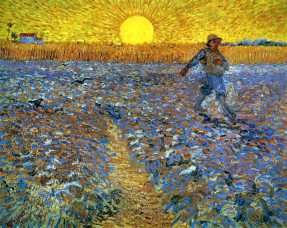 Vincent Van Gogh, The Sower (Sower with Setting Sun),, oil on canvas, 1888