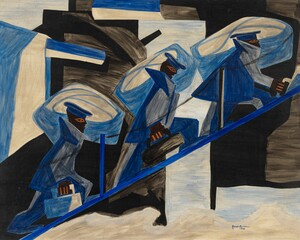 Jacob Lawrence, War Series: Another Patrol (1946), Tempera on composition board)