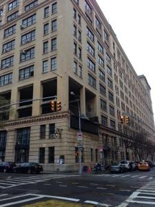 Westbeth Building on the corner of Bethune Street