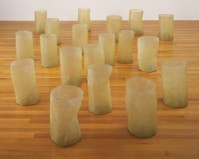 Eva Hesse, Repetition Nineteen III (1968). Fiberglass and polyester resin, nineteen units