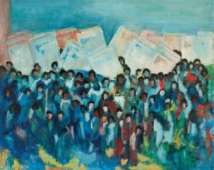 Alma Thomas March on Washington, 1964 Acrylic on canvas, 31 × 39 in.