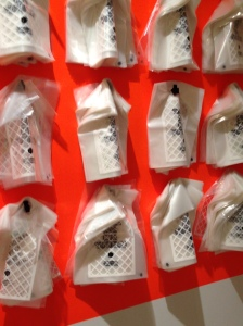 Plastic bags offered to visitors at the Jewish Museum