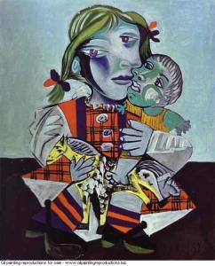 Pablo Picasso Maya à la poupée et au cheval, 1938 Oil on canvas